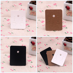 Custom-Made Earrings Cards Eco Friendly Ear Nail Card 3.8*4.8CM Blank Jewelry Accessories Kraft Paper Color White Black Hot Sale 0 06gsE1