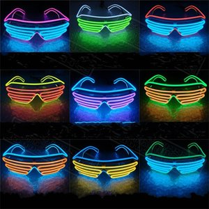 Wholesale Led Luminescence Glasses Fluorescence Flash Window Shades Two Color Party Favors Supplies Glass Sell Well With Different Colors oy J1