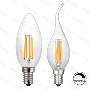 Chandelier Lighting Dimmable LED Filament C35 Candle Bulb 2W 4W 6W E14 Bulbs Light High Bright Clear Glass Led Lamp EUB on Sale