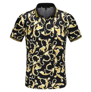 Wholesale luxury Italy designer stripe polo shirt t shirts Luxury snake polos bee floral embroidery mens High street fashion horse polo T shirt
