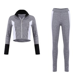 2 Pieces Set Women Loungewear Tracksuit Zipper Sweatshirt Sports Jogging Top and Pants Athletics Relaxed #687821
