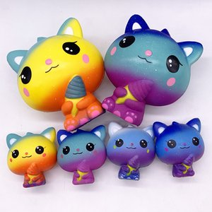 Wholesale New Design Squishy Happy Baby Toys Hold Ice Cream Cat Doll Soft Healing Funny Kid Children Toys Birthday Gifts L140