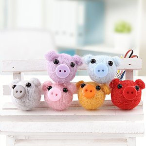 Wholesale Min order cartoon animals utton big heads shape handmade wools felts diy jewelry garments hair accessory
