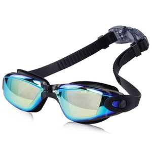 Wholesale mirrored swimming goggles resale online - Amazon burst electroplating dazzling swimming glasses HD waterproof fog proof swimming mirror male and female swimming mirror