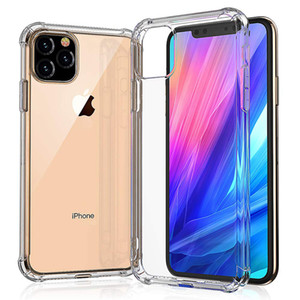 Wholesale Air Cushion Corner Transparent Ultra Silm Soft TPU Silicone Rubber Cover Case For iPhone Pro Max XS XR X S Plus S Anti scratch