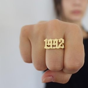 Old English Number Ring Personalized Old English Men Ring Jewelry For Women's Clothing & Accessories Or Bridesmaid Gifts