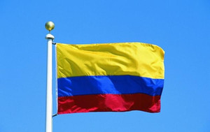 Wholesale Republic of Colombia Flag Banner x5ft Colombian Columbia Columbian South America Polyester Fans cheering Flags x150cm