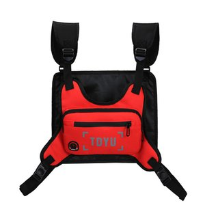 Wholesale men's waist bags resale online - Fashion Chest Rig Bag For Men Waist Bag Hip hop streetwear functional Tactical Chest Mobile Phone Bags Men s Night Exercise Pack