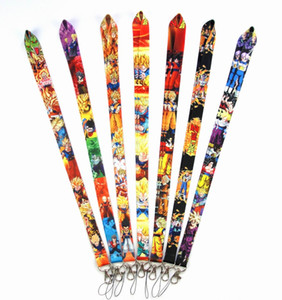 Wholesale New cartoon Dragon Ball Lanyards Neck Strap Lanyard Mobile Phone Key Chain ID Badge Key Chains