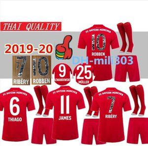 Wholesale 2019 Bayern Munich Especial Printing RIBERY ROBBEN Special soccer jersey kit uniform Bayern LEWANDOWSKI JAMES Football Shirts