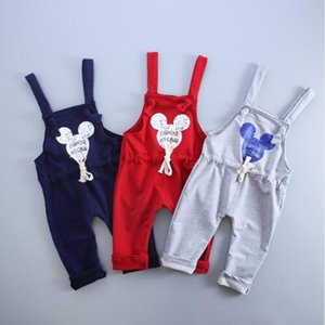 Wholesale 2019 Spring Autumn Brand Cotton Cartoon Pattern Children Boys Girls Fashion Leisure Camisole Pants 0-4 Years