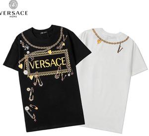 New heavy industry printing men's T-shirt women's shirt black and white s-xxl