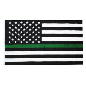 polizei-flaggen großhandel-6styles Blue Line USA Police Flags x5Fts Thin Blue Line USA Flagge Schwarz weiße und blaue amerikanische Flagge für Polizeibeamte GGA3465