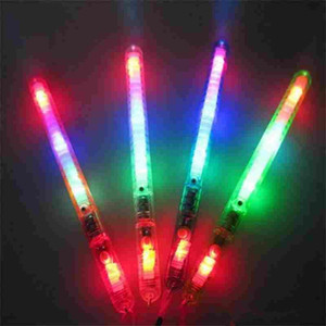 Wholesale 2019 Hot LED Flash Light Up Wand Glow Sticks Kids Toys For Holiday Concert Christmas Party XMAS Gift Birthday