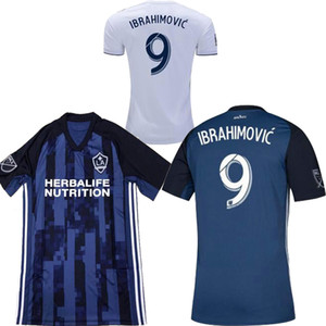 Wholesale 2019 Los Angeles Galaxy IBRAHIMOVIC Home white Away blue Mens soccer jersey Gerrard LLETGET GIOVANI DONOVAN Football shirts