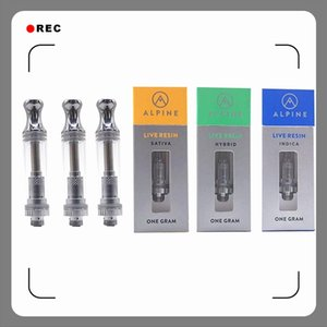 9 flavors for option Alpine Vapor Live Resin cartridges 0.5 1.0ml Cartridge Vape Pen Carts Pyrex Glass