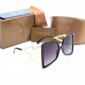 Wholesale 10PCS Gold Metal Frame Sunglasses for Womens Mens Brand Designer Sun glasses Ladies New Summer Oversized Square Sunglass