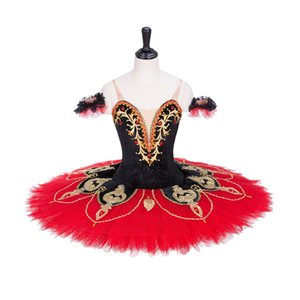 Wholesale AP050 Black Red Don Quixote Professional Ballet Tutu Cosutmes Women Nutcracker Pancake Classical Ballet Tutu Cosutmes Girls