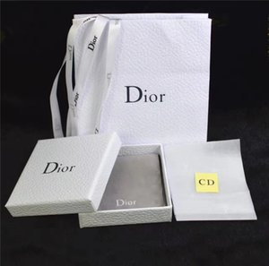 Wholesale D Type Box High end Earring Ring Necklace Packaging Four piece Suit Party Festival Jewelry Gift Designer Packaging Bag