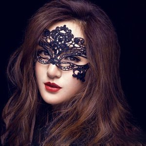 Wholesale Halloween Woman Mask Lace Black Half Face Mask Party Nightclub Prom Eye Mask Women Ball High Quality JJ19952