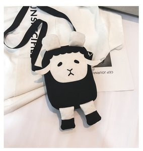 Wholesale Personalized mini messenger bag cute student bag Slant across Fashionable chic and compact White and black two color