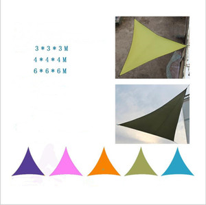Triangle Sun Shade Sail Canopy Garden Patio Pool UV Block Sun Shelters Waterproof Outdoor Canopy Sail Awning Courtyard Balcony 3*3*3M B5645