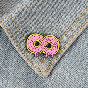 Infinity Donut Pins Pink Dounts Badges Food Cake Brooches Sweets Food Dessert Donut Jewelry for girls on Sale