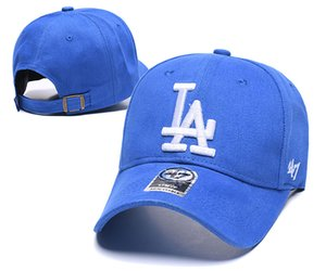 Wholesale 14 colors and style in stock New Fashion LA hat baseball caps Dodgers Snapback for womens mens peaked cap casquette hip hop bones