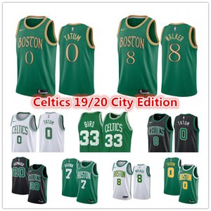 Wholesale Boston Celtics Jersey Kemba Walker Larry Bird Jayson Tatum Jaylen Brown Gordon Hayward City Gren Edition Basketball Jerseys