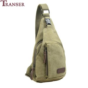 Wholesale Transer Mens Travel Casual Canvas Unbalance Crossbody Shoulder Bag Chest Bag a10