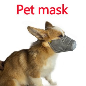 gasmasken atemschutzmasken großhandel-Dog Soft Gesicht Cotton Mouth Mask Pet Respirator PM2 Filter Antistaub Gas Umweltverschmutzung Maulkorb Anti Fog Haze Masken mit Atemventil