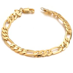 Wholesale hip pop jewelry for sale - Group buy High Quality Pop Club Accessories Cuban Chain Bracelet For Mens Hip Hop Bracelet With K Gold Plated Jewelry