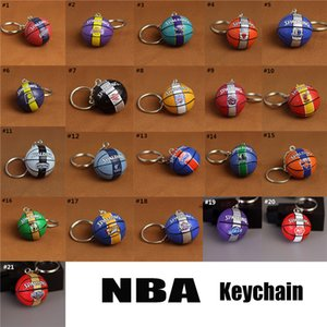 Wholesale Football Basketball Baseball Table Tennis leather Keychain Toys Fashion Sports Item Key Chains Jewelry Gift For Boys And Girls