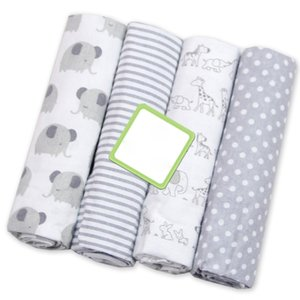 Wholesale 4 Muslin Diapers Cotton Baby Blanket Soft Baby Blankets Newborn Flannel Receiving Swaddle Printed Muslin Swaddle Wrap