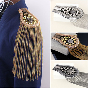 Wholesale Hot Item Men Women Suit Accessories Corsage Stage Costume Epaulettes Tassel Shoulder Tassels Costume Joker Fashion Jewelry Free Ship