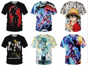 Wholesale Summer T Shirt d Print ONE PIECE Monkey D Luffy Women Men Unisex Funny Tshirts Casual Short Sleeve Tees Tops