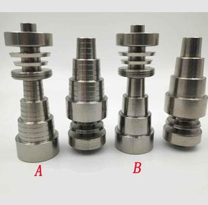 Wholesale 6 in Domeless Titanium Nail Titanium GR2 Nails joint mm mm mm For Glass bong water Smoking pipe Universal Convenient Oil Rigs Sale