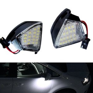 2Pcs Error Free LED Under Side Mirror Light Puddle Lamp for Golf 5 MK5 MKV R36 Passat b6 Jetta Eos on Sale