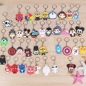Cute Cartoon Keychain Key Ring Gift For Women Girls Bag Pendant PVC Figure Charms Key Chains Jewelry porte clef