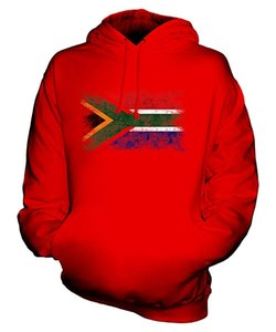 Wholesale South Africa Distressed Flag Unisex Hoodie Mens Ladies Hooded Sweater