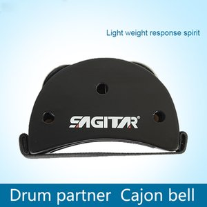 Wholesale SAGITAR Elliptical Cajon Box Drum set Foot Tambourine Partner Percussion Instruments Cajon Bell Pedal Guitar Parts Accessories Drums