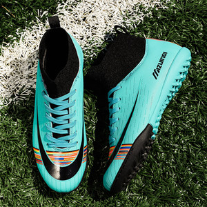Wholesale football soccer shoes turf boots for sale - Group buy Soccer Shoes Men Football Shoes Kids Football Boots Women Outdoor Turf Sneakers Training Breathable Football Boots Non slip Shoe