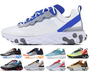 Wholesale Tour Yellow React Element Men Women Running Shoes Orange Peel Sail TripleBlack White Taped Seams Platform Trainers Sports Sneakers