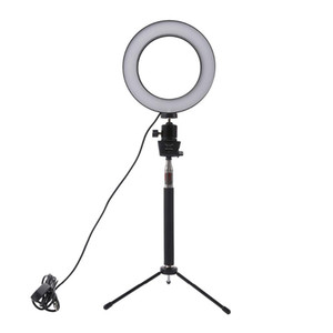 Dimmable LED Studio Camera Ring Light Photo Phone Video Light Lamp With Tripods Selfie Stick Ring Fill Light For Canon Nikon Camera