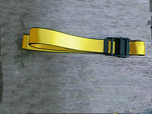 2020 Designer fashionable high quality canvas belt men leisure golden yellow belt Canvas men women belts of