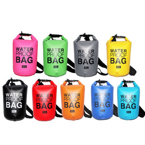 Free Shipping Outdoor Travel Clothing Waterproof Bag Waterproof Bag Bucket Sealed Beach Swimming Bag 2L 5L 10L 15L 20L 30L