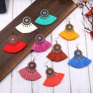 Wholesale Fashion Styles Boho Retro Tassel Dangle Earrings For Women Summer Party Jewelry Multi Colored Earrings