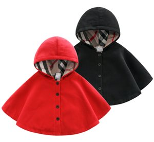 Retail spring and autumn children's clothing newborn woolen windbreaker cape boys and girls baby thickened thermal cloak baby out wear cape on Sale