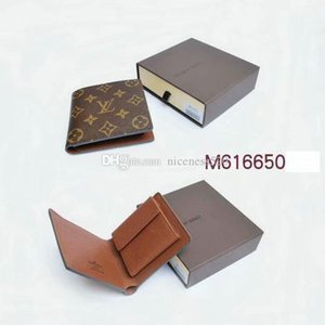 Wholesale 2019 New Male Genuine Leather Classic Leisure Wallet Casual Short Designer Credit Card Holder Pocket Fashion Men Purse Wallets With Box