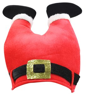 Red Christmas Xmas Party Kit Costume Santa Claus Plush Padded Legs Pants Thanksgiving Snowman Cap Hat for Adults